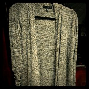 Ruched long sleeve sweater.